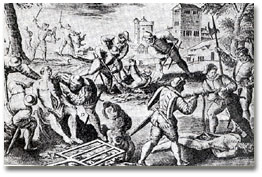 Pacques pi�montaises. Massacre des vaudois (1655)
